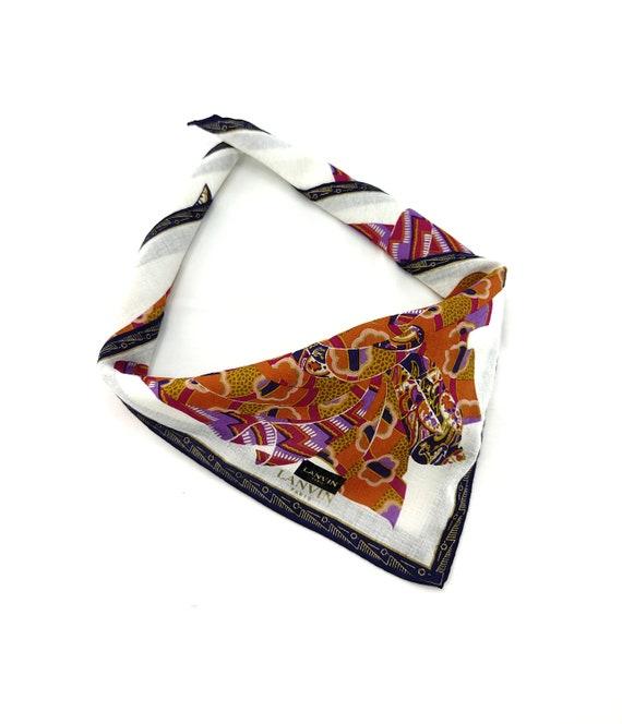 Vintage Lanvin Neckerchief/Handkerchief/Bandana