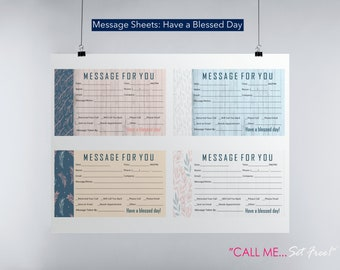 Have a Blessed Day - Message Sheets - Large Page - Set of 4 - each 3x5