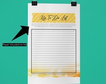 Lord Help Me - My To Do List - 8X11.5 Digital Download