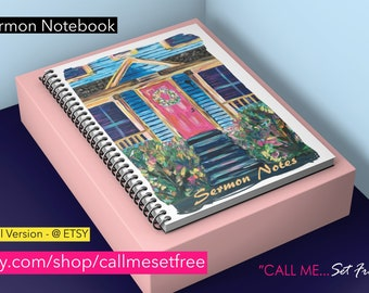 SPIRAL - Cute Little Pink Door - Sermon and Message Notes - Journal Notebook