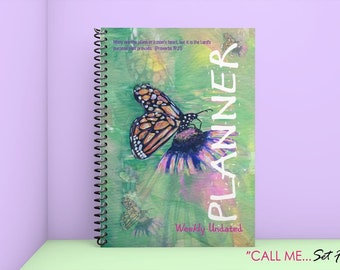 Butterfly Undated Planner (8x11.5) (60 weeks, 252 pages)