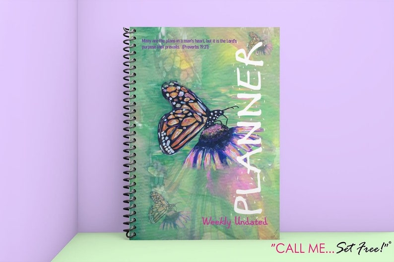 Butterfly Undated Planner 8x11.5 60 weeks 252 pages image 0