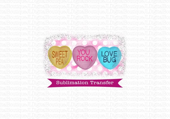 Valentine/'s Day Heart Love Sublimation Transfer Valentine Ready To Press Sublimation Heat Transfer Heat Transfer DIY Shirt Sublimation