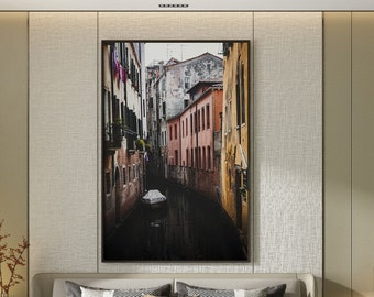 Travel DIGITAL photography BATCH - venitian streets - old, dark and moody canals from Venice Italy