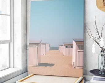 Lot of 3 digital photos, gift for friends, coastal landscape, North Sea, beach cabin, summer atmosphere, Knokke Heist beach