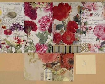 Paper for Decoupage ~ Woman Face Shape  ~ Art Journal ~ Scrapbooking ~ Decorative Tissue ~ Card Making ~ Decoupage Napkin
