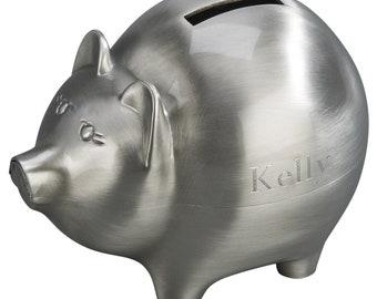 Engraved Piggy Bank Etsy