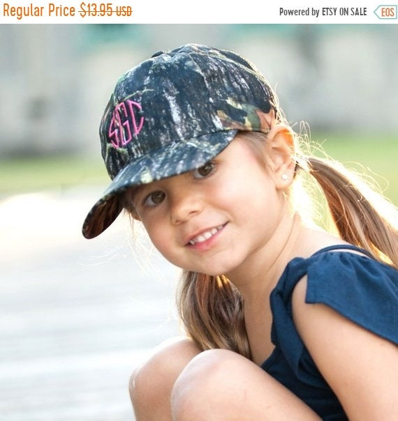 932617293169c MarchMadness Monogrammed Camo Kids Baseball Hat for Boy or