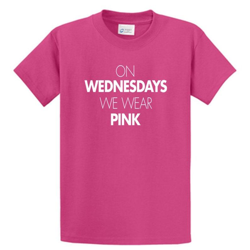 98afd51d On Wednesdays We Wear Pink Shirt Mean Girls Shirt tshirt | Etsy