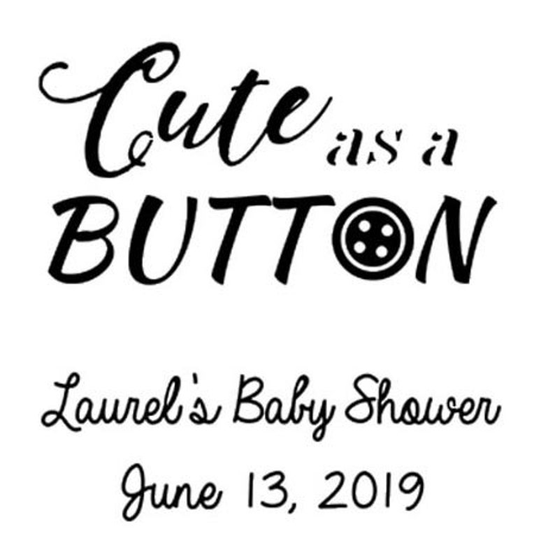 Set of 24 Personalized Cute as a Button Baby Shower Favors Glass Coffee Mugs Baby Shower Party Gift Ideas Girl or Boy Coffee Mug Favors