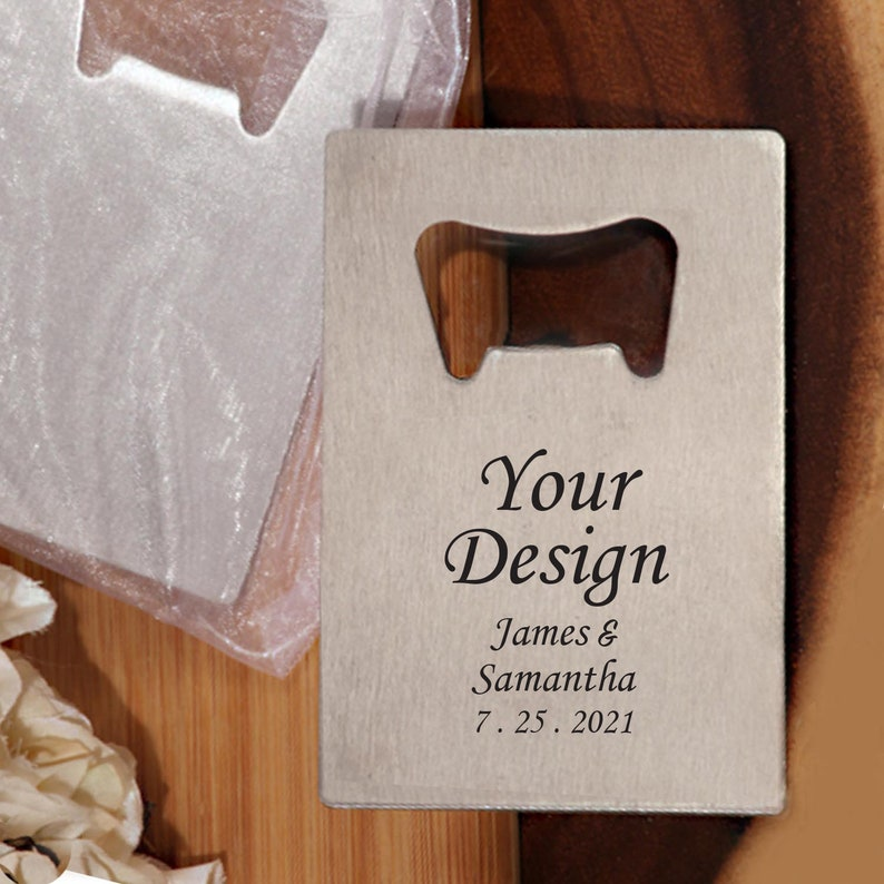 Set of 24 Personalized Your Design  Favors Bottle Opener Wedding Party Gift Ideas Custom Party Favors Bottle Opener