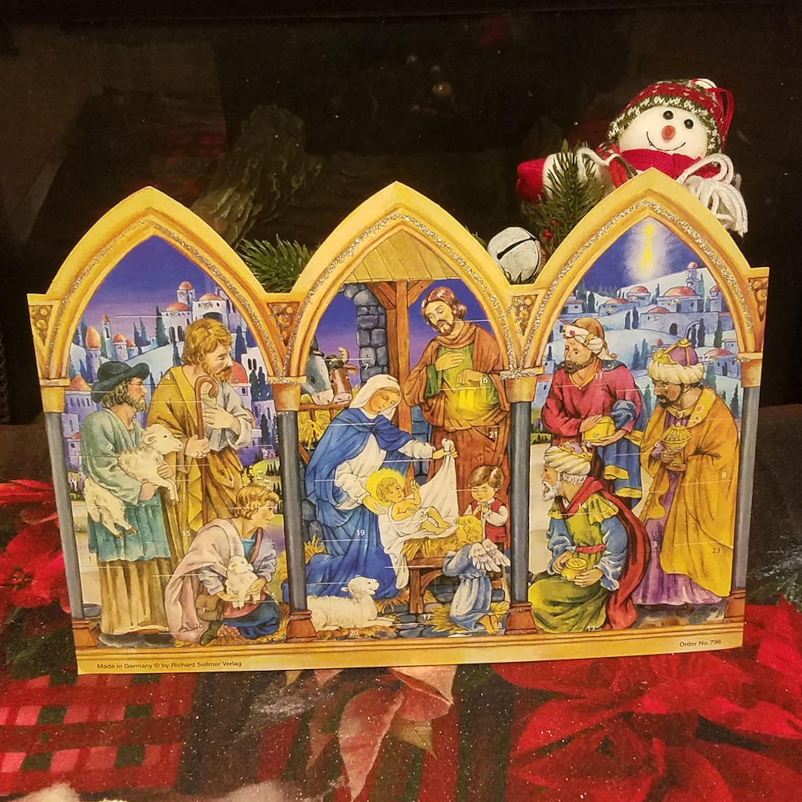 Nativity Scene German Advent Calendar Germany Advent Calendars Santa Crafts Advent Calendar Advent
