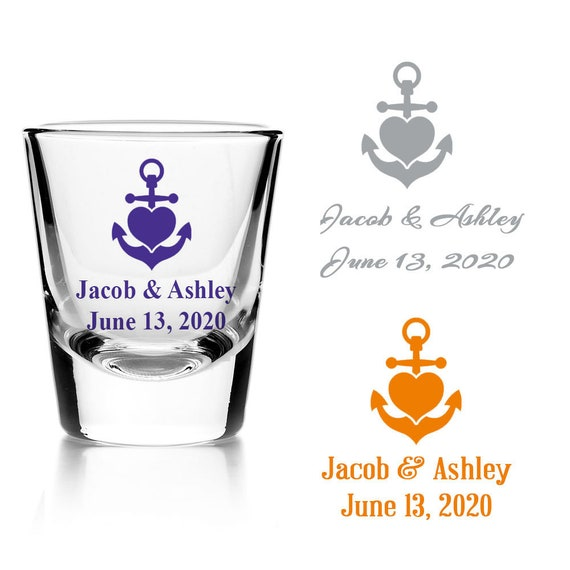 Set of 24 Personalized Key with Heart Design Bridal Shower Party Favors Custom Shot Glass Bridal Shower Favors D61 Wedding Reception