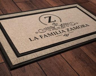 La Familia Last Name Spanish Welcome Mat - Housewarming Gift, Wedding Gift Ideas, Personalized Doormat, Last Name Doormat, Closing Gift
