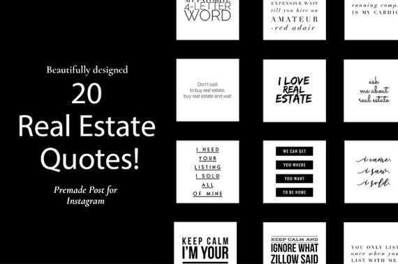 Real Estate Quote Real Estate Quotes Realtor Marketing Real Etsy
