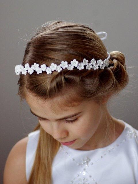 Bijoux de cheveux Communion Roses haarranke choix curlis façon marque Blanc Ivory