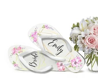 3821af36693fe3 Custom Bridal Flip Flops