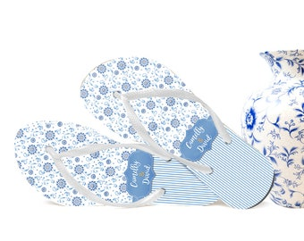 Southern Inspired Wedding Flip Flops, Bride Flip Flops, Flip Flops for Guests, Wedding Party, Gifts for Guests, Wedding Favors, Organza Bags
