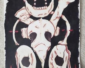 The Bones - Mixed Media Painting