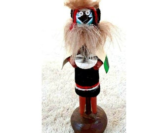 "Vintage Kachina Doll 5"" Ornament Hopi Native American Wood Hand Made Arizona"
