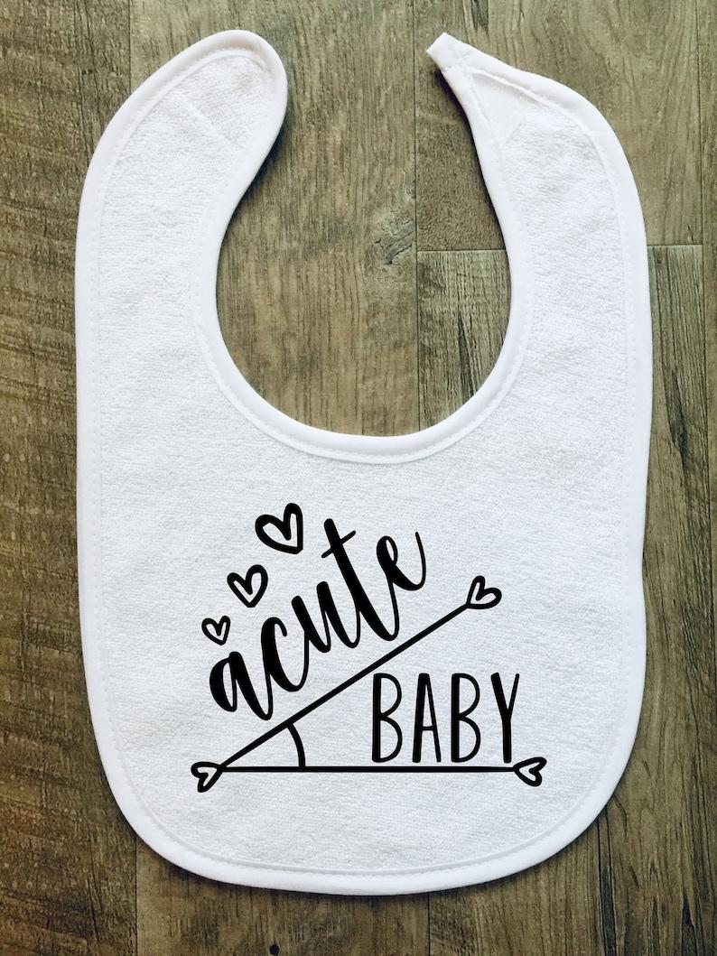Customizable Geometry Baby Boy Angles Baby Bib Personalized Baby Shower- Gift Pun Baby Girl Acute Baby Photo Prop