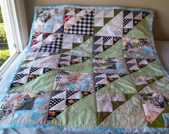 Small Alice in Wonderland quilt -- custom-made