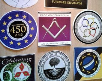 Terra Ignota stickers! Brill Institute, Utopians, Cousins