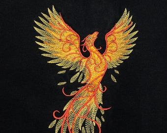 Embroidered Phoenix full zip hoodie