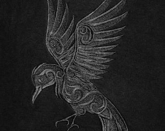 Embroidered Ravens full zip hoodie