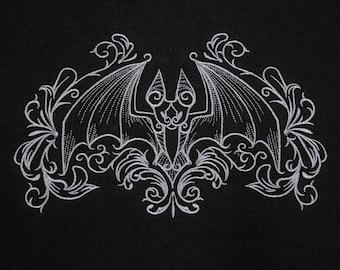 Embroidered Bats full zip hoodie
