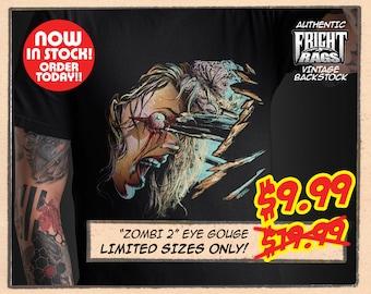 "FRIGHT RAGS - vintage ""Zombi 2 Eye Gouge"" t-shirt"