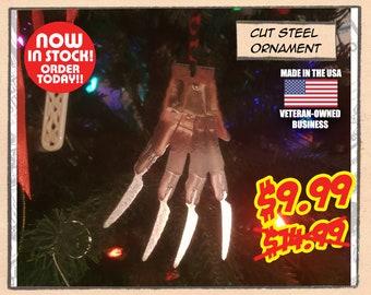 TWAS THE NIGHTMARE - Hand-cut Christmas tree ornament