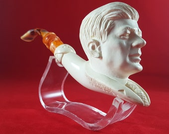 Kennedy Meerschaum Tobacco Smoking Pipe with Case Authentic Vintage Unsmoked John F