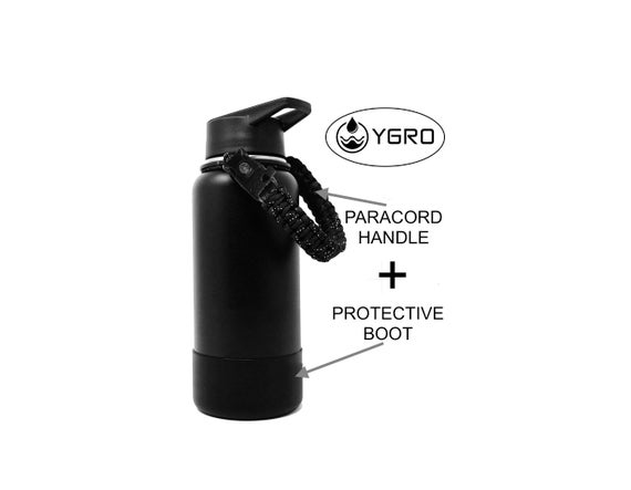 Ygro Combo Pack Boot and Paracord Handle for Hydro Flask 32oz 40oz Wide  Mouth Bottles for Hiking, Traveling, Water Bottle, Sleeve, Cover