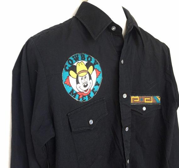 Vintage Plainsman Western Shirt Custom Mickey Mou… - image 6