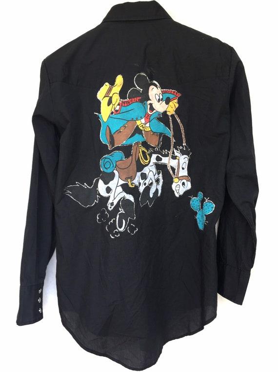 Vintage Plainsman Western Shirt Custom Mickey Mou… - image 1
