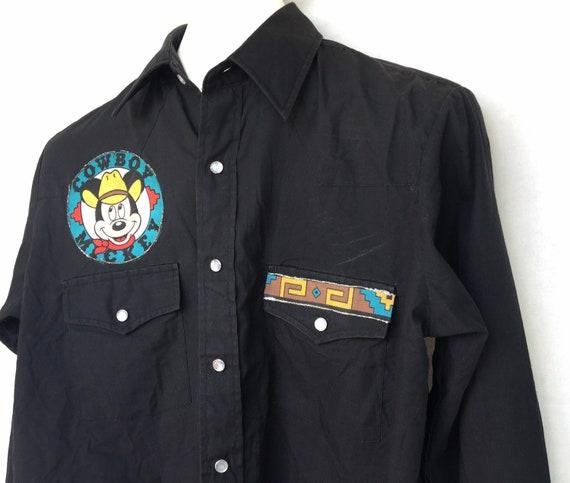 Vintage Plainsman Western Shirt Custom Mickey Mou… - image 7