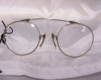 f3bb94a5b9f Antique american optical pince nez reading eyeglasses pinch nose glasses  steam punk jpg 340x270 Nose pinch
