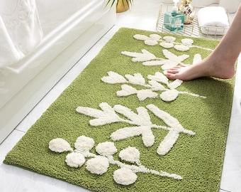 Green Bath Mat, Green Bathroom Rug