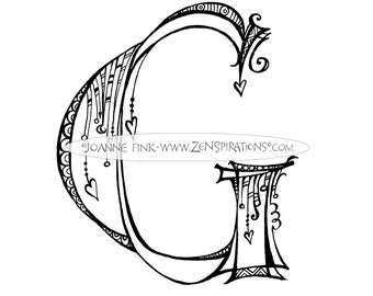 Zenspirations by Joanne Fink Full Alphabet with Ampersand