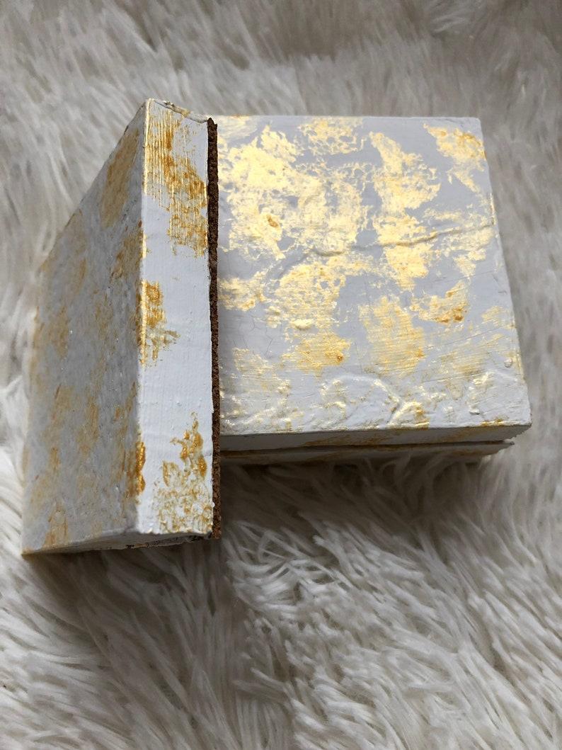 Chunky Coasters White /& Gold