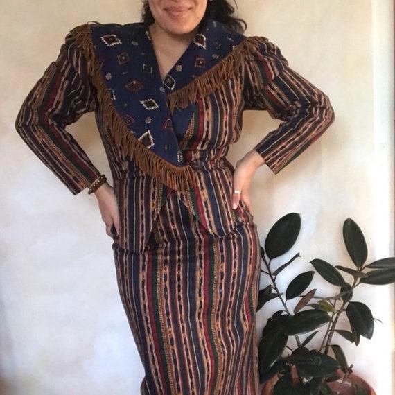 Vintage Go Vicki Western Boho Skirt Set