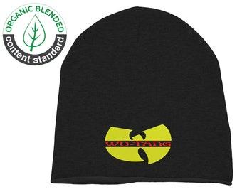e346e04f8c6 Embroidered Wu Tang Clan Hip Hop Rapper Underground Music Unisex Beanie Hat  Cap Organic Cotton