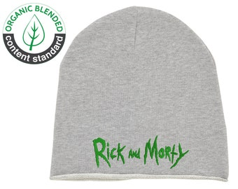 Embroidered Rick And Morty Unisex Beanie Hat Cap Organic Cotton 5ae5919c822
