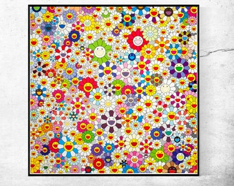 Takashi Murakami,Flowers, Flowers, Flowers print,man cave,fine Art Poster,home office decor,High Quality Giclee Print in various sizes