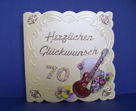 Birthday Card With Musical Instrument To 70th