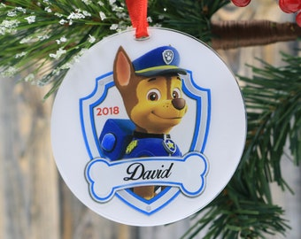 paw patrol personalized christmas ornaments toy family name ornament wedding gift uv print family gifts