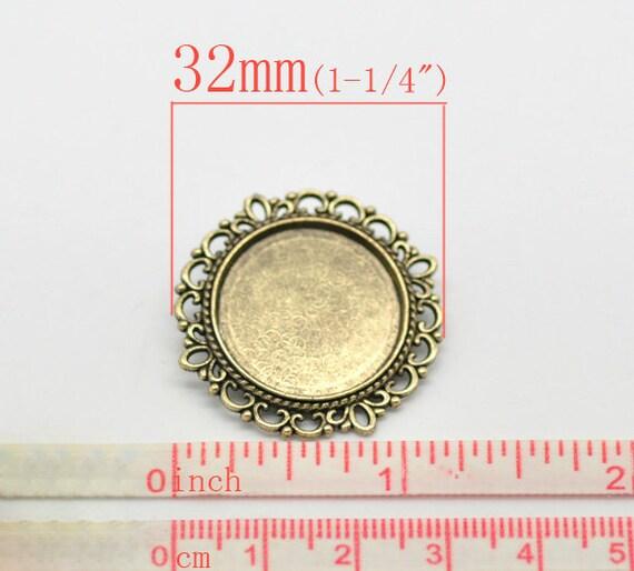 10 x Metallperlen Bronze 11x6mm