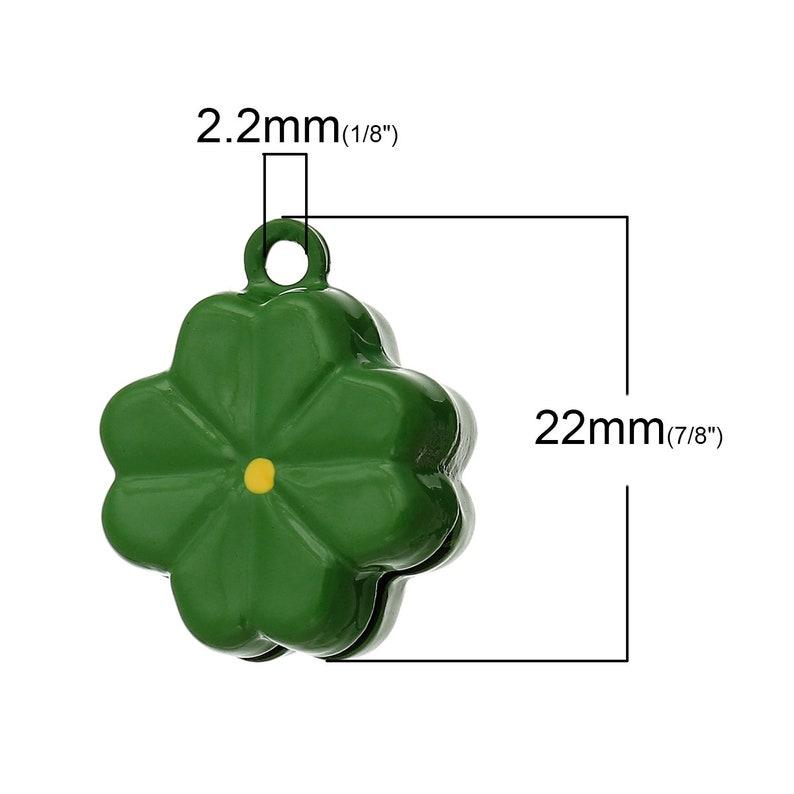 1 x bell clover green 22 x 19 mm
