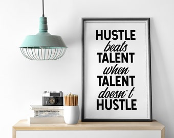 Hustle Beats Talent Etsy